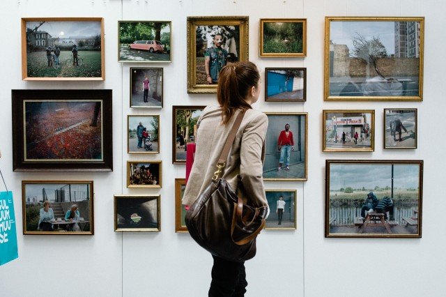 Zed Nelson: A Tale of Two Cities display at the London Photography Festival