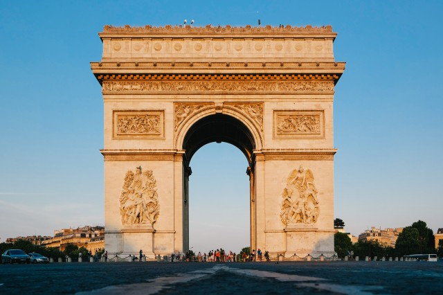 Arc de Triomphe during the golden hour