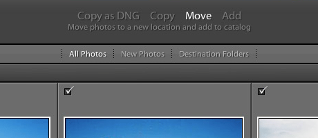 move copy add Adobe Lightroom