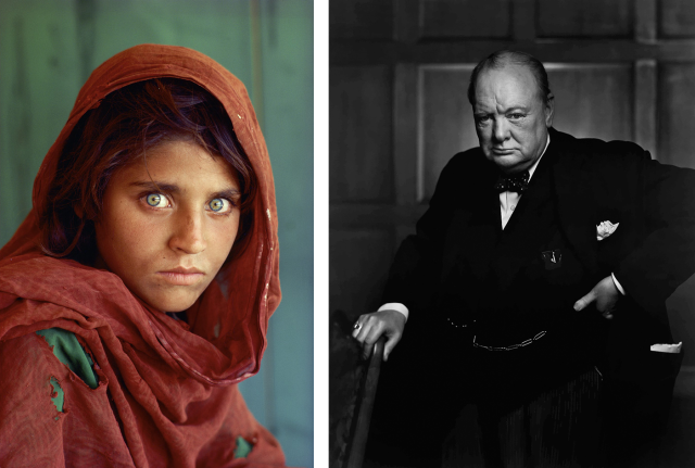 Steve McCurry Afghan Girl Yousuf Karsh Winston Churchill Drawn By Light Media Space